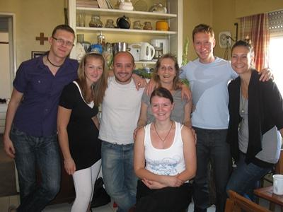 A host family in Argentina