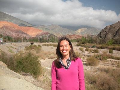A volunteer travelling around Argentina in her free time