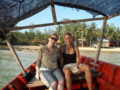 Volunteers travelling in Cambodia