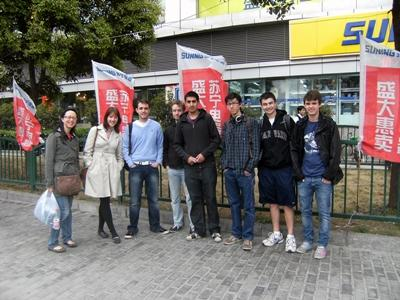 A group of Projects Abroad volunteers in China