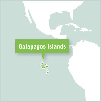 Map of the Galapagos Islands