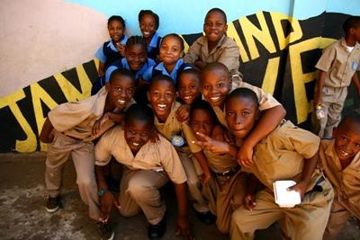 Local children in Jamaica