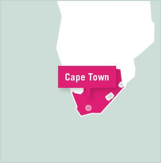 Map of Cape Town, South Africa