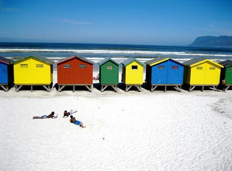 Muizenberg beach in Cape Town, South Africa