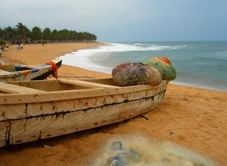 A beautiful view of a beach in Togo
