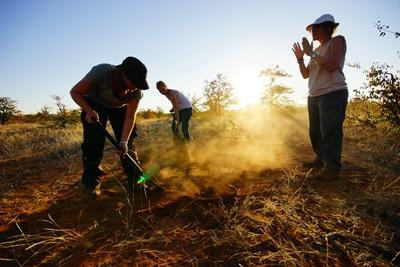 Volunteers at a Conservation project in Southern Africa