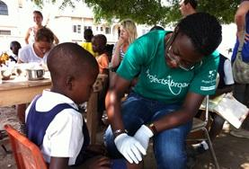 A nursing student completes her elective in a developing country, working in hospitals and community outreaches.