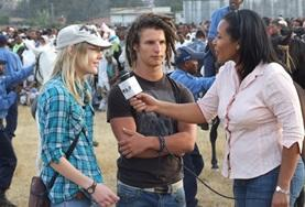 A Journalism intern conducts interviews and research to write a news article during her internship in Ethiopia.
