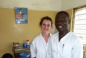 A Dentistry intern shadows and learns from a skilled local dentist at our volunteer placement in Togo, Africa.