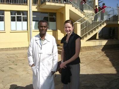 Female volunteer and Ethiopian doctor