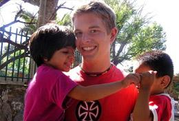 A High School Special Care & Spanish volunteer works with children in Argentina to help with their development.