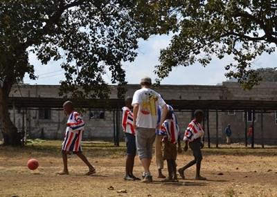 Volunteer with school sports in Tanzania