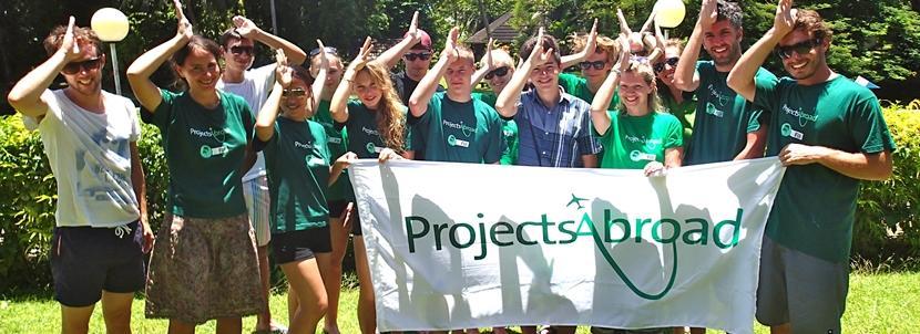 Conservation volunteers in Fiji